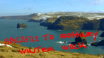 Boscastle to Bossiney in the winter - snowy coastal landscape Beast from the East