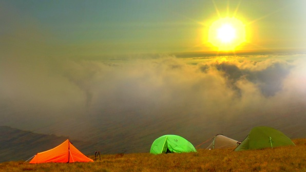 pen y fan horseshoe wild camp and hike in the Brecon Beacons