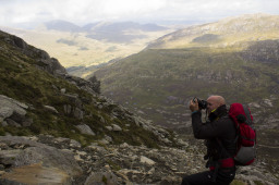 Photography half way up Tryfan, Snowdonia