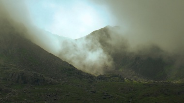 cloud cover, mountain, moody images, scafell pike