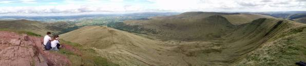 Panoramicshot of the Valley as photographed from Crybyn