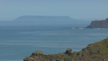 Lundy Island from Northcott Mouth Near Bude