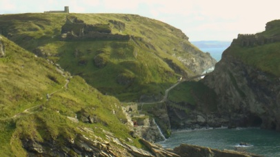 Tintagel Castle, Birth place of King Arthur, South West Coastal Path Walks