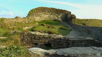 Tintagel Castle Upper Courtyard, King arthur, South West Coastal Path