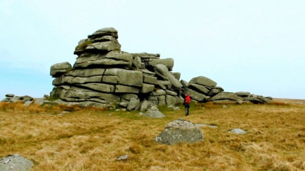 Summit of Fur Tor Dartmoor, Dartmoor's most remote tor