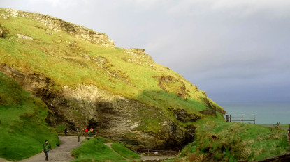 Tintagel Island, Cornwall, location of the Film The Kid Who Would Be King