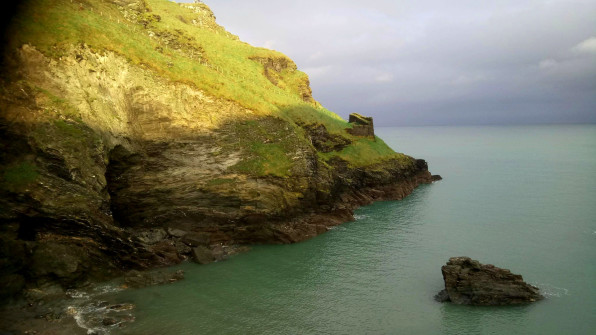 Tintagel Island and coastline, film location of the Kid Who Would Be King