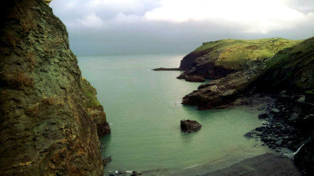 Tintagel Castle, Island and Coastline, Cornwall Coast, Film Location for The KId Who Would Be King