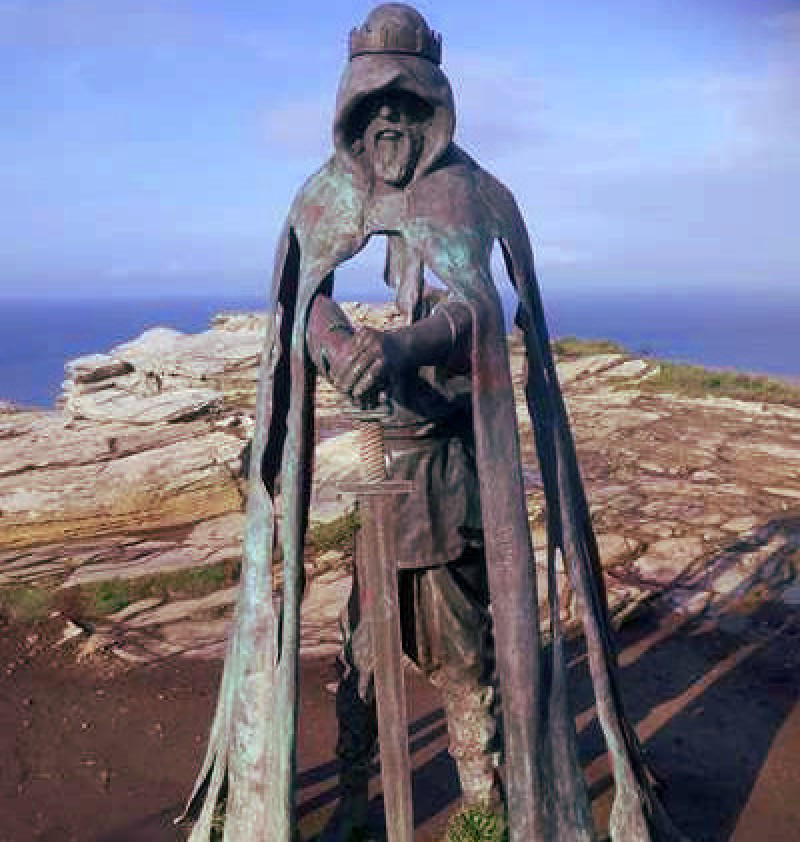 Stautue Of King Arthur, Tintagel Cliffs