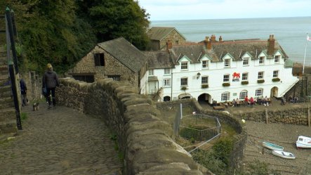 Clovelly village, Red Lion Inn, Clovelly Harbour, Fishing Village North Devon