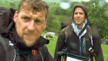 After summiting Scafell Pike in The Lake District