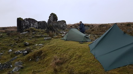 a wet and windy winter wild camp on Dartmoor