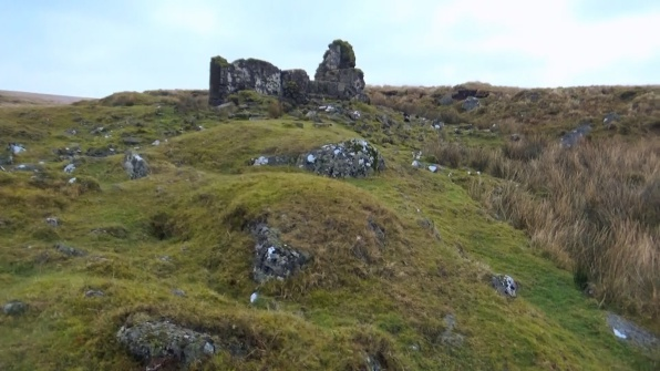 The Bleak House Ruins on Dartmoor, our wild camp spot for the night