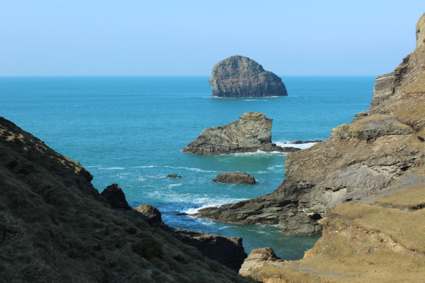 south west coast path trebarwith strand and port isaac