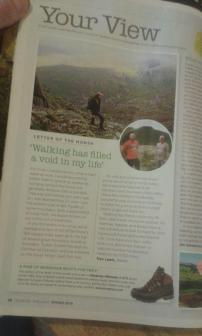 Summit or Nothing in Country Walking magazine