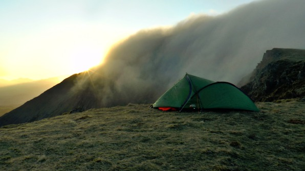 mountain wild camp, Cadair Idris, Snowdonia