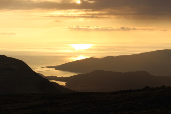 Barmouth Sunset, from Cadair Idris, Snowdonia