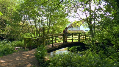South West Coast Path Bossington Footbridge