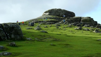 Haytor a popular tourist destination on Dartmoor