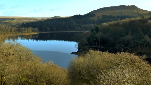 Burrator Reservoir with Sheepstor behind, Dartmoor