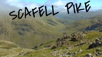 Hiking on Scafell Pike, the Lake District