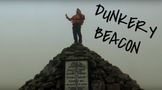 Hiking on exmoor, Dunkery Beacon, Summit or Nothing