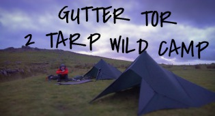 TWO TARP WILD CAMP, GUTTER TOR, DARTMOOR, SUMMIT OR NOTHING