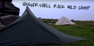 Ultralight wild camping tarp and tent, On Dartmoor, Hangershell Rock, Summit or Nothing