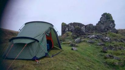 Vango Banshee 200, wwet and windy winter wild camp, dartmoor