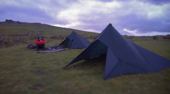 UK Wild Camping Dartmoor, DD Hammocks Superlight Tarp Tent