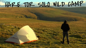 Winter solo dartmoor wild camping in snow