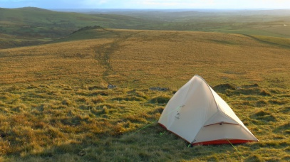 Naturehike Lightweight tent, wild camping on Dartmoor, Summit or Nothing